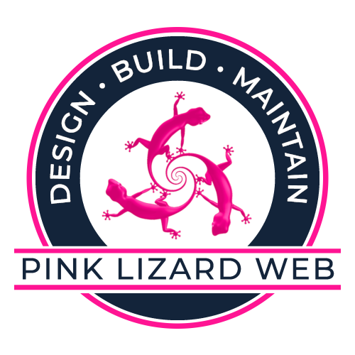 This is the Blue logo used for Pink Lizard Web, A Phoenix Web Design Company