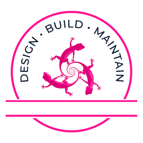 This is the white logo used for Pink Lizard Web, A Phoenix Web Design Company